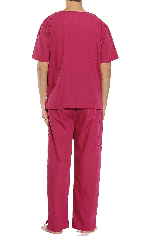 e7e612211b0 Amazon.com: Tropi Mens Unisex Scrub Sets 4 Pocket Medical Scrubs Uniform  (V-Neck): Clothing