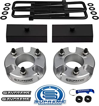 Silver Frontier Lift Kit Full Suspension Lift 3 Front Suspension Lift Frontier Leveling Kit Nissan Frontier Lift Kit PRO 2 Rear Suspension Lift CNC Machined T6 Aircraft Billet Supreme Suspensions