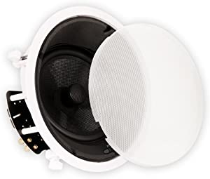 "Theater Solutions TSS8A Home Theater Deluxe in Ceiling 8"" Angled Speaker, White"