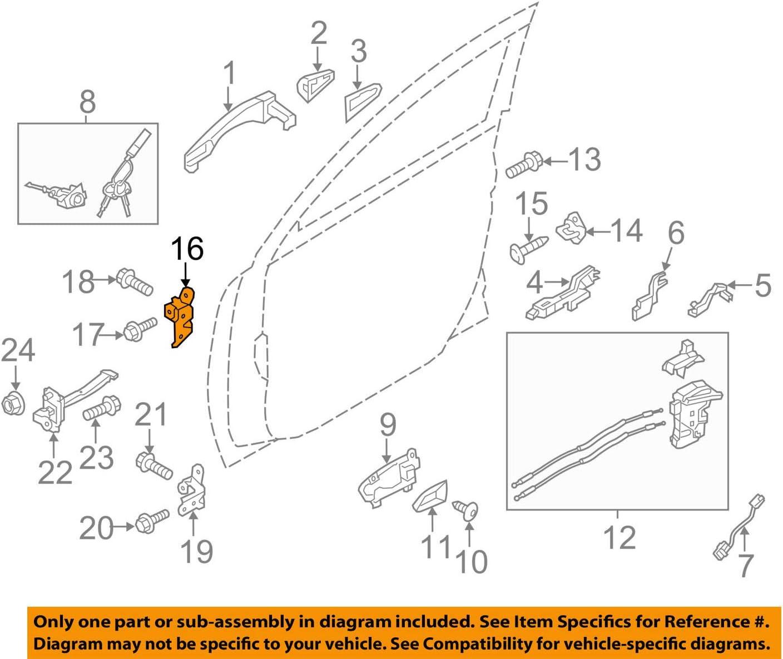 793202H000 Front Right Lower Door Hinge OEM For Kia Hyundai Various Models