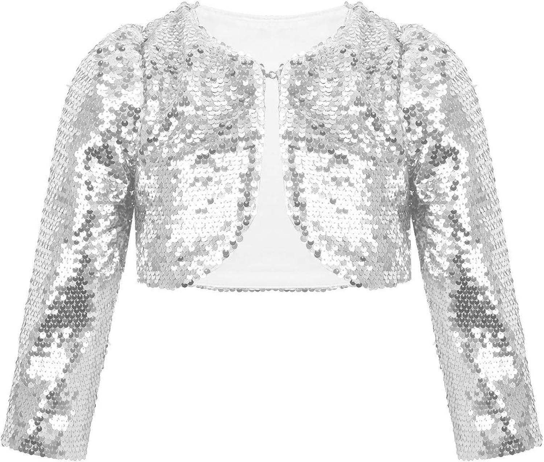 Girl\u2019s shimmer beige cropped jacket with Santa mesh sleeves