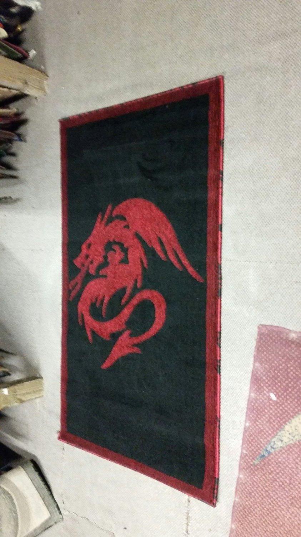 5bab6371186 Amazon.com  Japanese Dragon Style Novelty Area Rug Carpet Red Black (2 Feet  X 3 Feet)  Kitchen   Dining