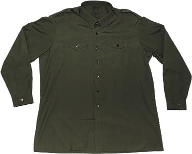Brtitish Army Camisa Casual - para Hombre Verde Verde 44-46: Amazon.es: Ropa y accesorios