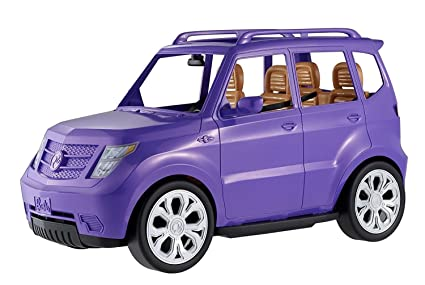 order nice cheap multiple colors Barbie Voiture 4x4 tout terrain pour poupée, véhicule violet décapotable,  jouet pour enfant, DVX58