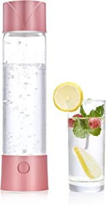 CO-Z Portable Sparkling Water Maker, 750mL Homemade Soda Pop Maker Machine, 1.6 Pint Seltzer Water Fizzy Drink and Soda Maker for Home, Handheld Water Carbonator and Carbonated Drink Maker, Pink