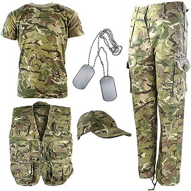 Kombat UK Explorer Kit - Traje de camuflaje para niños: Amazon.es ...
