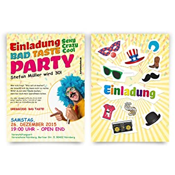 Invitations pack of 40 happy birthday bad taste costume party invitations pack of 40 happy birthday bad taste costume party fancy dress party filmwisefo