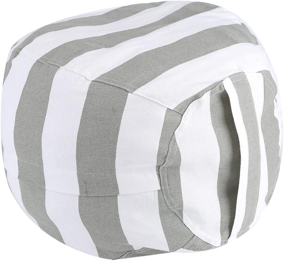 Stofftier Sitzsack gro/ßes Fassungsverm/ögen Premium Leinwand Kinder Stofftier Organizer Storage Sack Sitzsack Box f/ür Kinder Spielzeug Haushalt Supplies