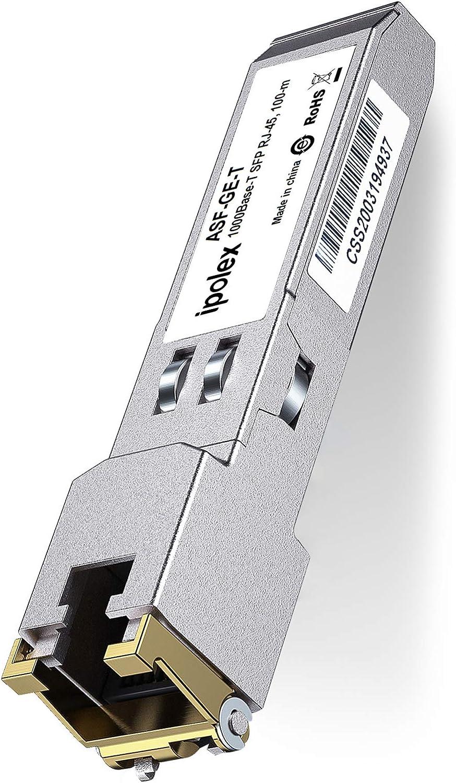 FlyFiber SFP Copper Module Reach 100m. Gigabit RJ45 Mini-GBIC 1000BASE-T SFP Transceiver for Cisco GLC-T//GLC-TE//SFP-GE-T