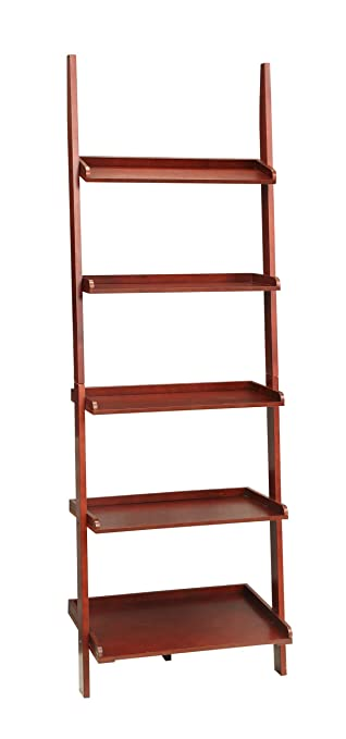 Convenience Concepts French Country Bookshelf Ladder Dark Cherry