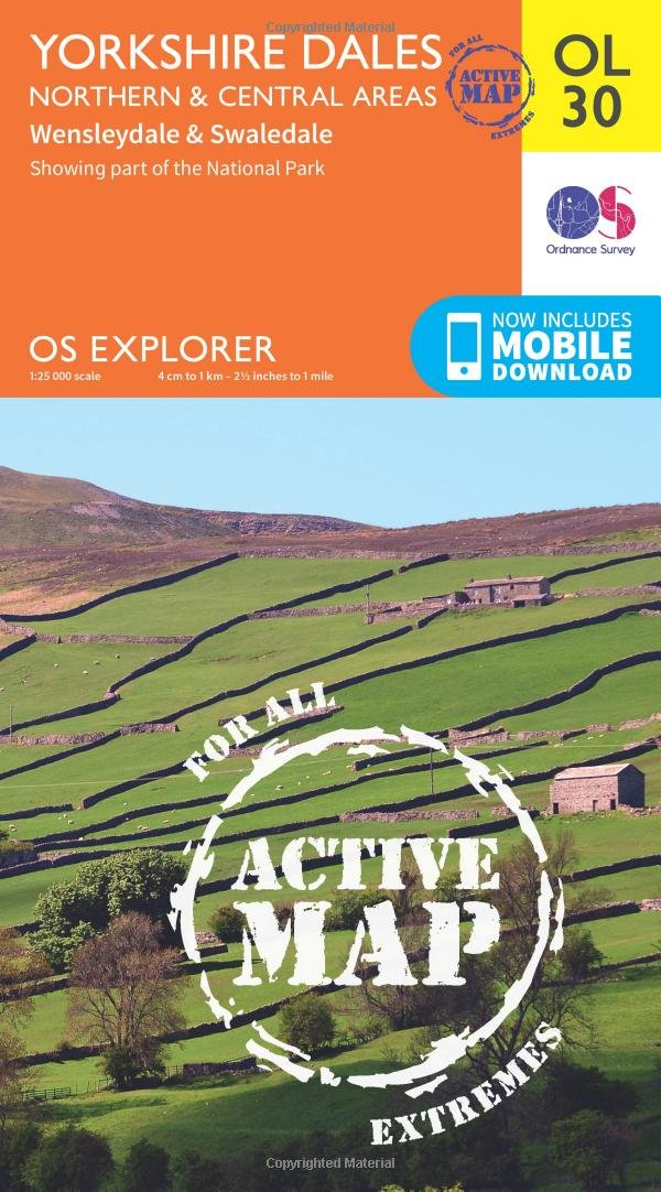 Yorkshire Dales - Northern & Central areas 1 : 25 000 (OS Explorer Map)