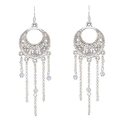 f3a99784dbc918 Créative Perles - Boucles D Oreilles Orientales - Argenté  Amazon.fr ...