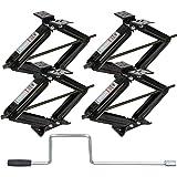 "Weize RV Trailer Camper Stabilizer Leveling Scissor Jacks with Handle-24""- 5000lbs - Set Of 4"