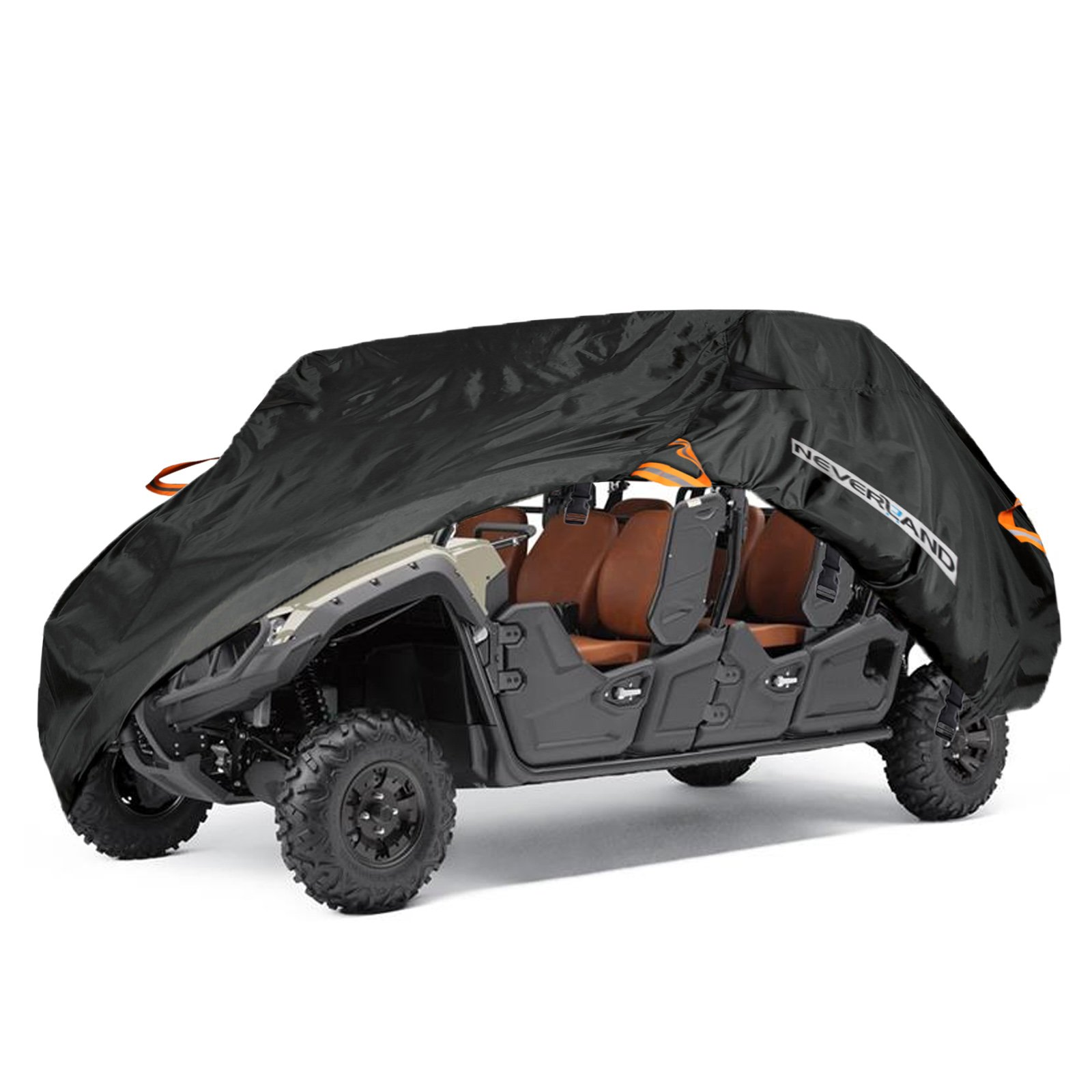 NEVERLAND UTV Cover,Waterproof Heavy Oxford Material for Yamaha Viking VI Ranch Can Am Maverick Arctic Cat Textron Off Road 4-6 Passenger