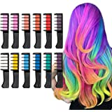 Qivange Hair Chalk for Girls Kids Age of 4 to 14 + Years up Gift , 12 Colors Temporary Bright Hair Color Dye for Kids…