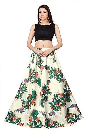 716f78ebfe Sri Sri Collection Women's Crepe Silk Lehenga Choli (Multicolor_Free Size)