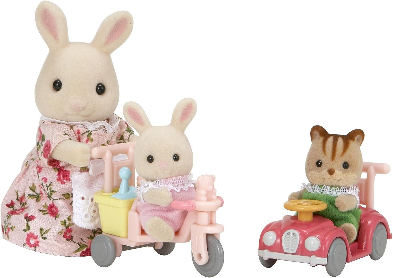 SYLVANIAN FAMILIES 3567 - Triciclo y Mini Coche de Juguete con 3 Figuras