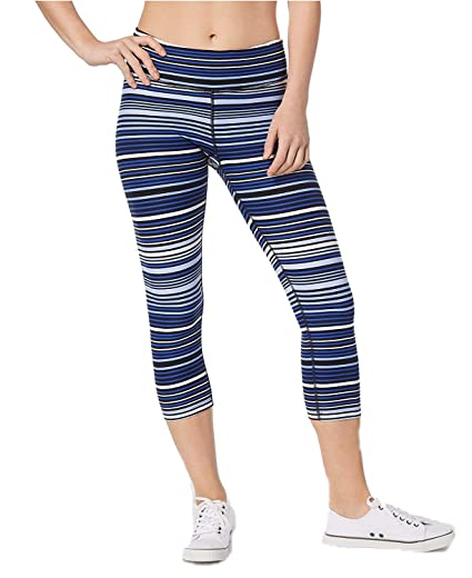 dfb4987ea1acf Image Unavailable. Image not available for. Color: Calvin Klein Women's  Performance Journey Striped Capri Leggings ...