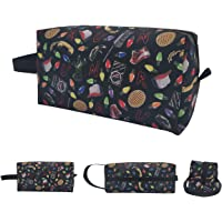 Cosmetic Bags Stranger Things Portable Makeup Bag with Zipper Toiletry Wallet Hangbag Pen Organizer Case