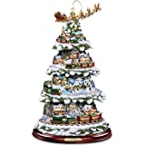 hawthorne village thomas kinkade wonderland express animated tabletop christmas tree with train - Disney Christmas Tree