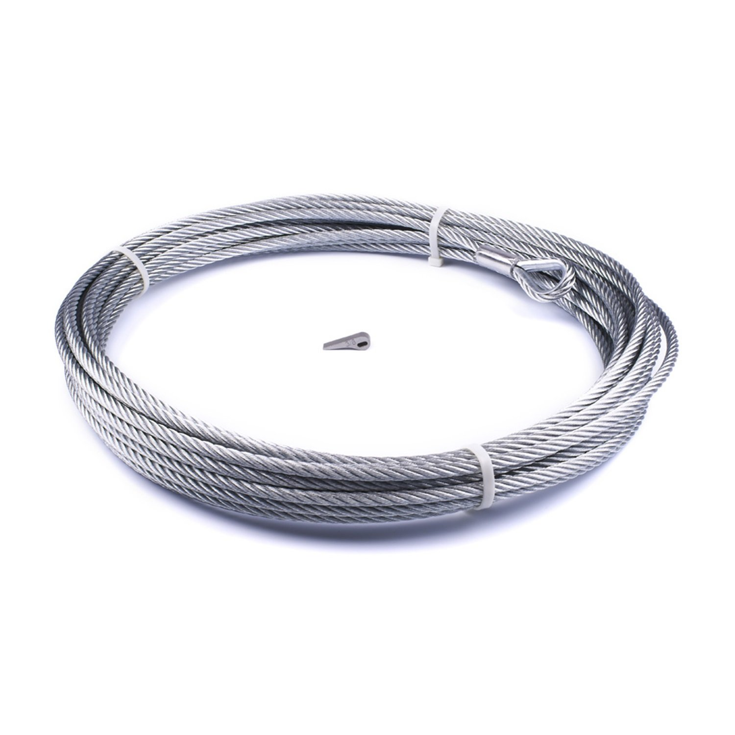 x 80 ft For Winch Models Zeon 10 Zeon 12 Wire Rope Warn 89213 Wire Rope 3//8 in