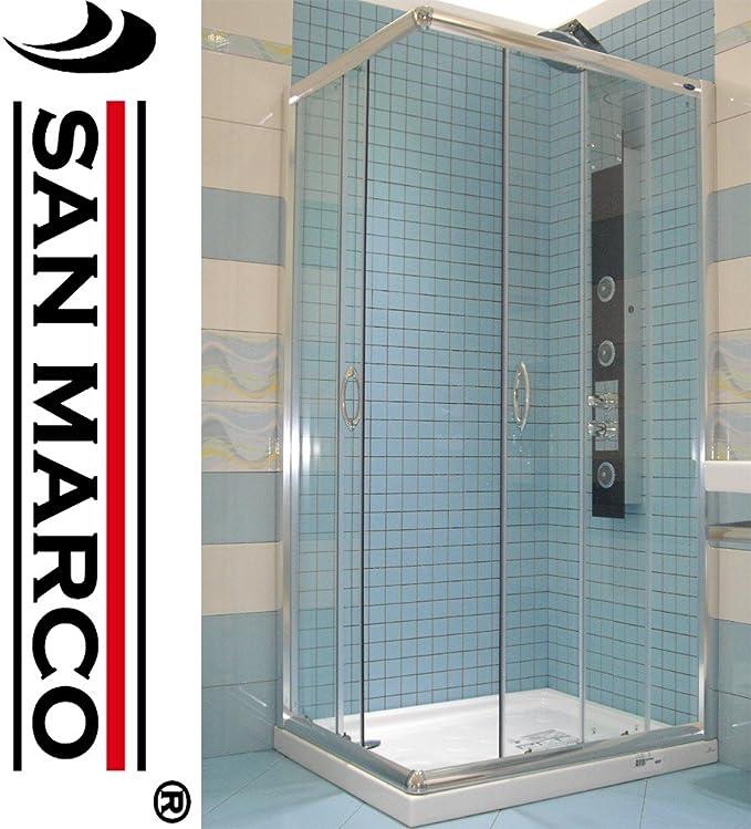 Cabina Doccia San Marco.San Marco Box Doccia 70x100 In Vetro Temperato Trasparente
