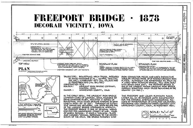 24x36 Vintage Reproduction Historic Map Decorah Iowa Winneshiek County 1870