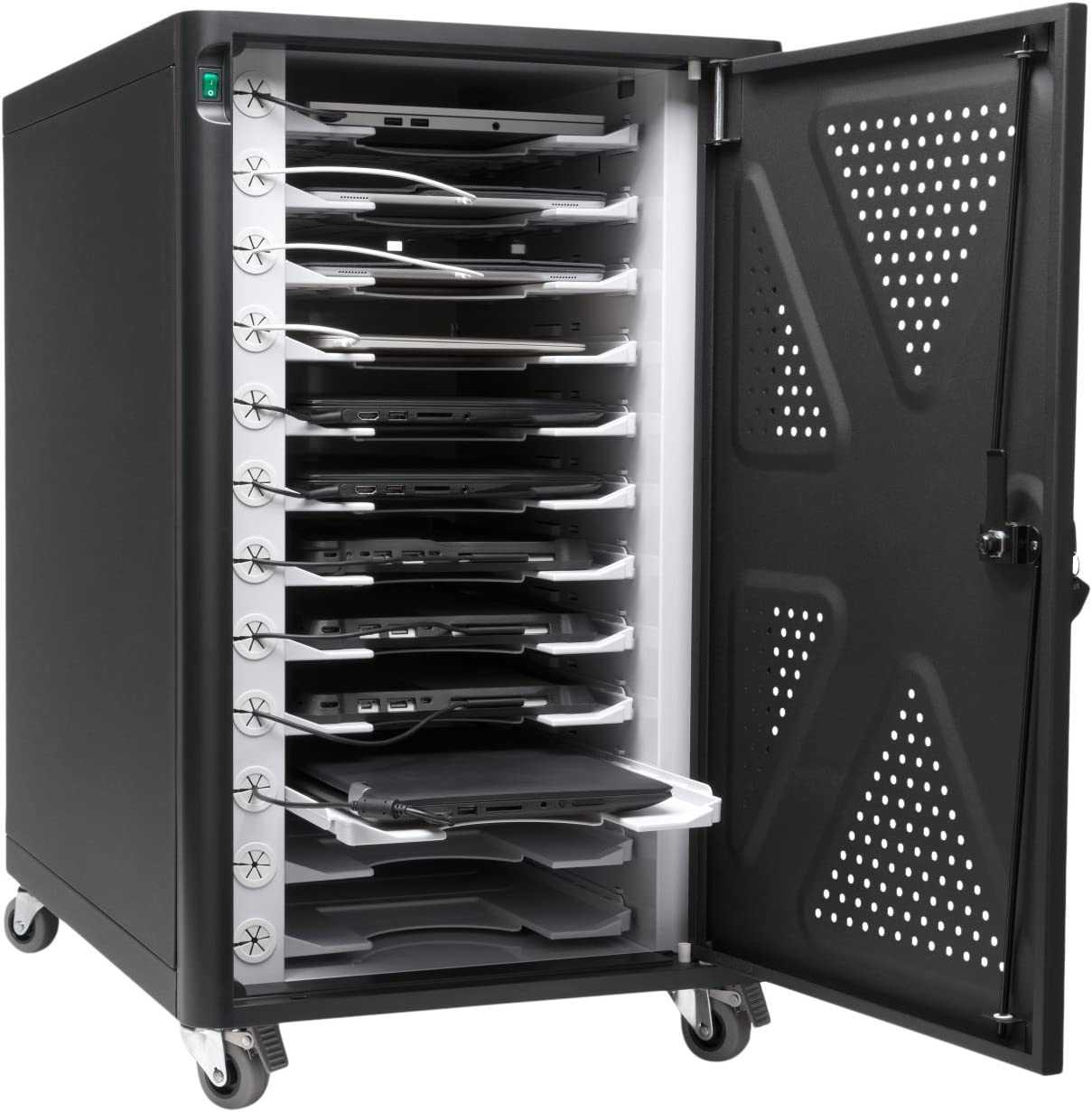 Kensington AC12 Security Charging Cabinet for Tablets, Chromebooks, 2 in 1 Laptops (K64415NA)