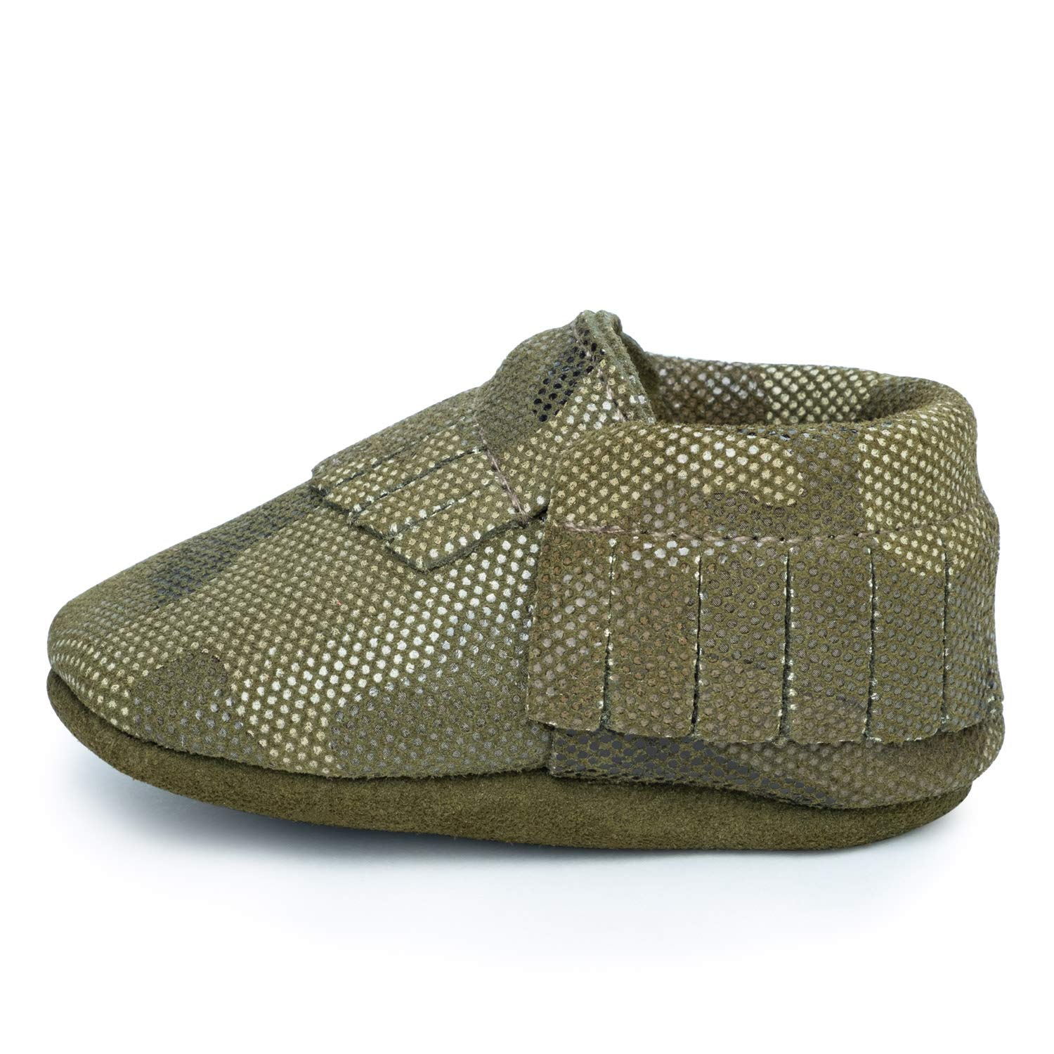 BirdRock Baby Moccasins - 30+ Styles for Boys & Girls! Every Pair Feeds a Child (Medium | 12-18 Months | US 5.5, Camo Green)