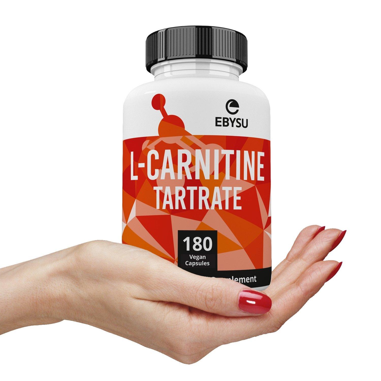 EBYSU L-Carnitine Tartrate - 180 Capsules 1000mg Max Strength Pure L Carnitine Supplement by EBYSU (Image #8)