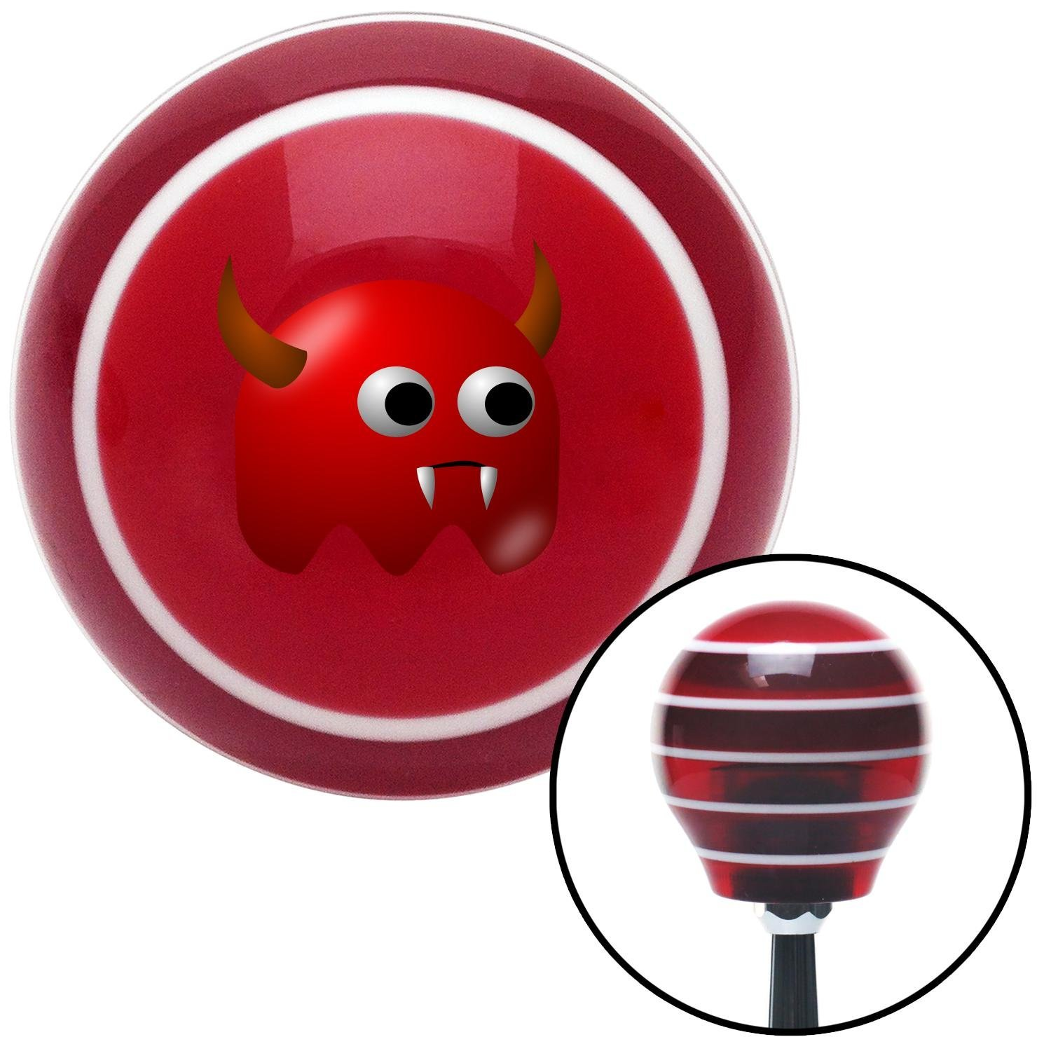 Devil Ghost American Shifter 112666 Red Stripe Shift Knob with M16 x 1.5 Insert