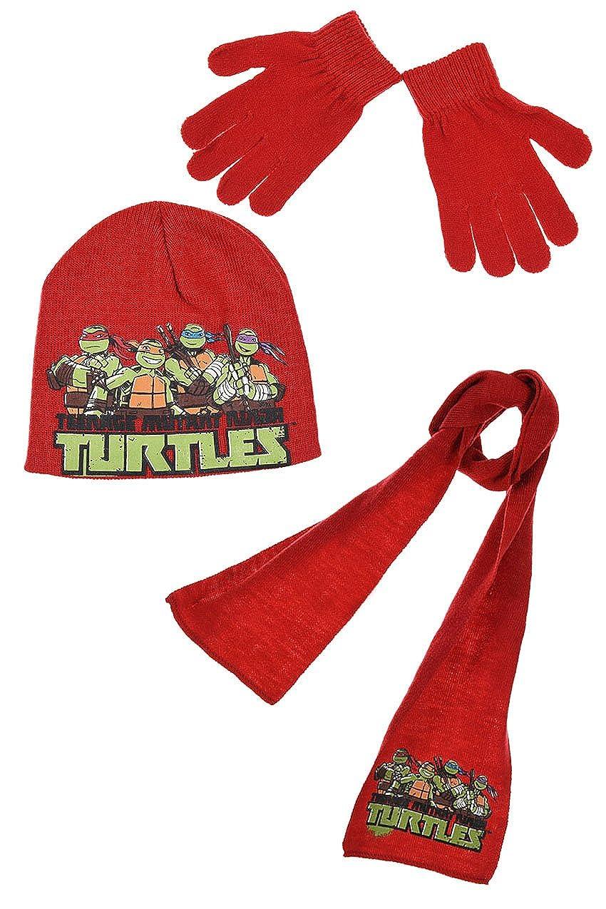 Bufanda gorro y guantes para niño, diseño de Las Tortugas ...