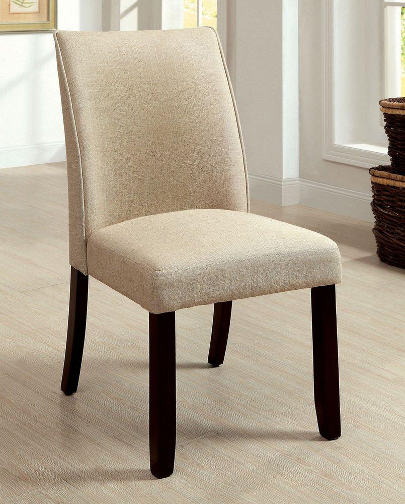 247SHOPATHOME IDF-3556SC Dining-Chairs, Ivory