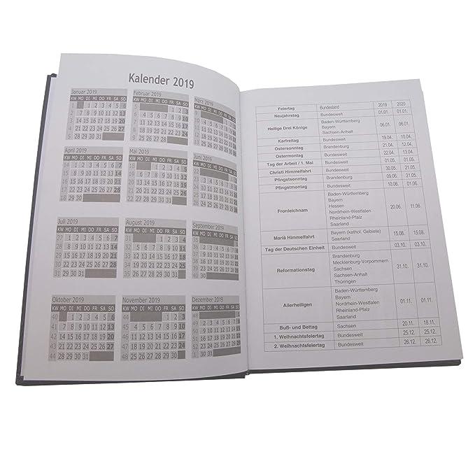 Buchkalender 2020 A5 Leder Optik Business großer Terminkalender Chefplaner