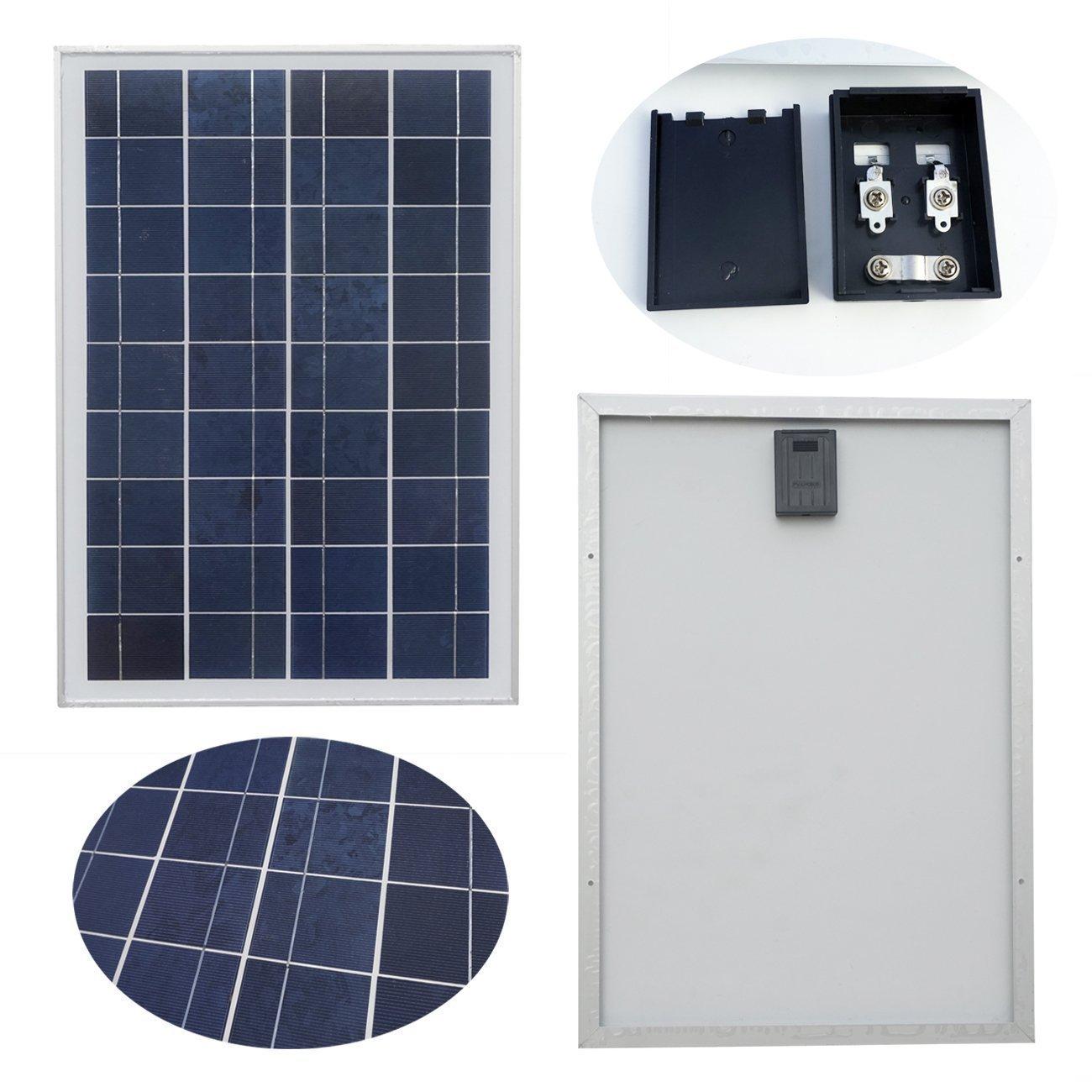 Great Amazon.com : ECO WORTHY 20 Watt 12 Volt Polycrystalline Solar Panel Module  Off Grid Charging RV Boat : Garden U0026 Outdoor