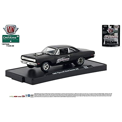 M2 Machines Auto-Drivers 1:64 R59 1969 Plymouth Road Runner 440 FLOWTECH: Toys & Games