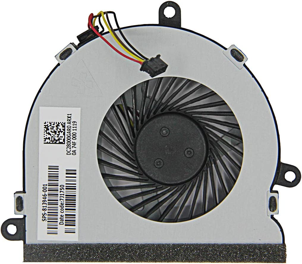 Asia New Power New CPU Cooling Fan for HP 250G4 255G4 Notebook15-AC 15-AC622TX 15-ac032no 15-ac033no 15-ac042ur 15-ac121dx 15-ac029ds 15-ac120nr 15-ac137cl 15-ac023ur Series,P/N:813946-001
