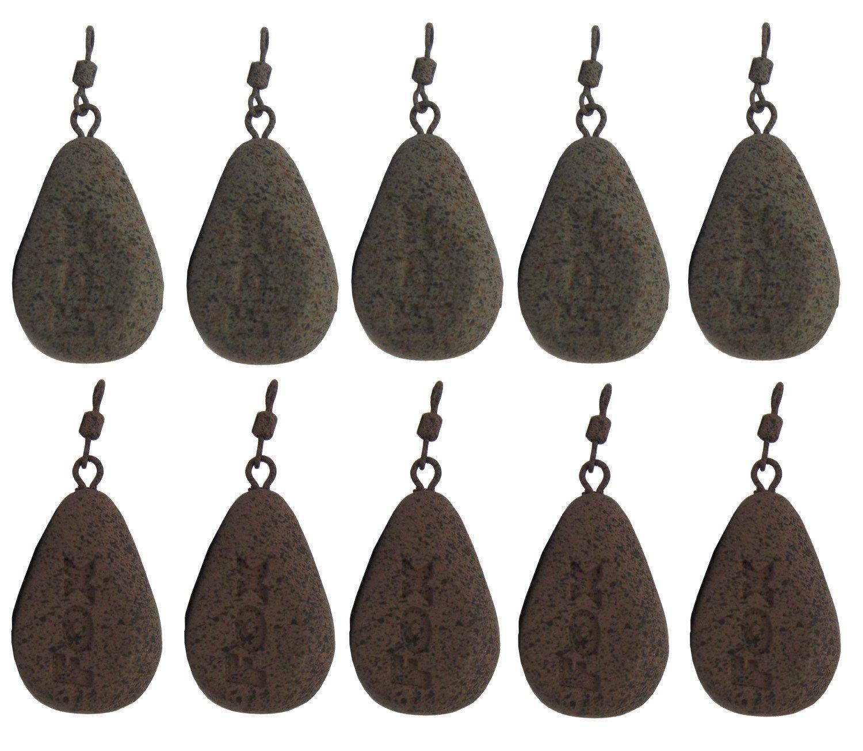 Birnenblei Fox Bleie Flat Pear Leads Karpfenbleie Wirbelbleie 10 Bleie Festbleimontage Karpfenangeln