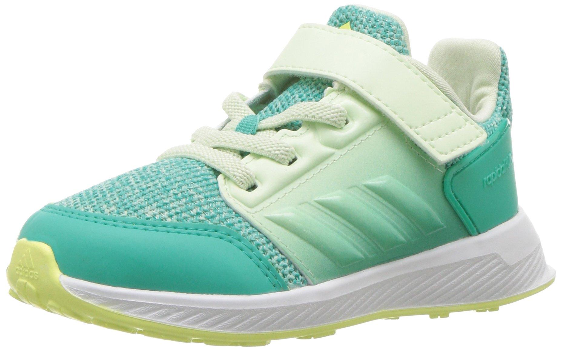 adidas Baby Rapidarun, Shock Mint/Shock Mint/Aero Green, 7 M US Toddler