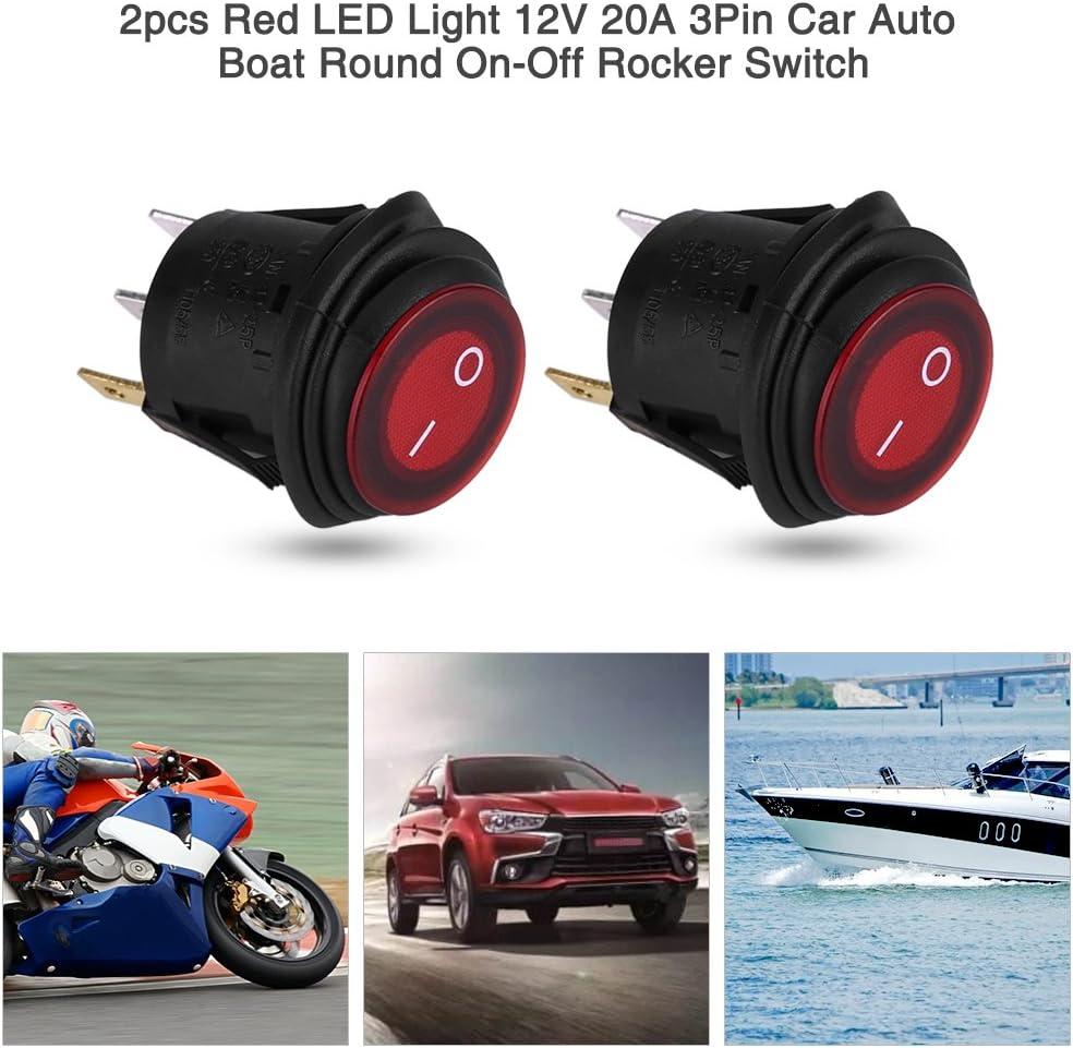 5 X voiture 12V marche//arrêt Tour bascule bateau interrupteur bouton poussoir ST