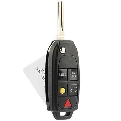 amazon com flip key fob keyless entry remote fits volvo c30 c70 s40