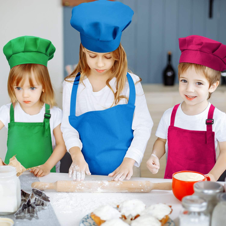Personnalisé Enfants Chef Tablier et Chef Chapeau Cuisine SetCouleur Assortie 2-13 Ans