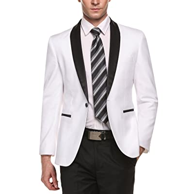 COOFANDY Men's Modern Suit Jacket Blazer One Button Tuxedo for Party, Wedding, Banquet, Prom at Amazon Men's Clothing store