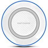 無線充電器 Quick Charge 3.0 ワイヤレスチャージャー 置くだけ充電 急速充電 超薄型 軽量 呼吸ランプ付き 多重保護 異物検知可能 QI(チー) 基準 iPhone 8/iPhone 8 Plus/iPhone X/Galaxy S8/S8 plus/S7/S7 Edge/Nexus/LG G6/Xperia 他のQi対応機種 (プラスチック, 白)