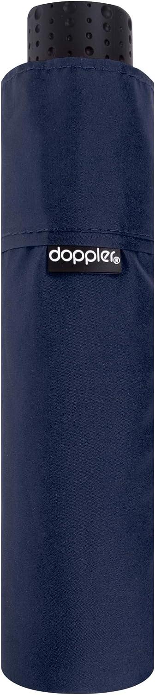 doppler Paraguas de Bolsillo Fiber Havanna Uni - Super Light - Tamaño Compacto - 22 cm - Blau