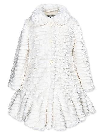 eefd92575202 Amazon.com  Widgeon Girls  Flounce Faux Fur Coat 3506n  Clothing