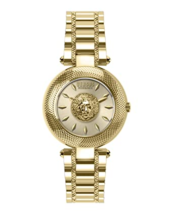 f8a2c003761 Amazon.com: Versus by Versace Bricklane Quartz Stainless Steel Gold Tone  Watch VSP640818: Watches