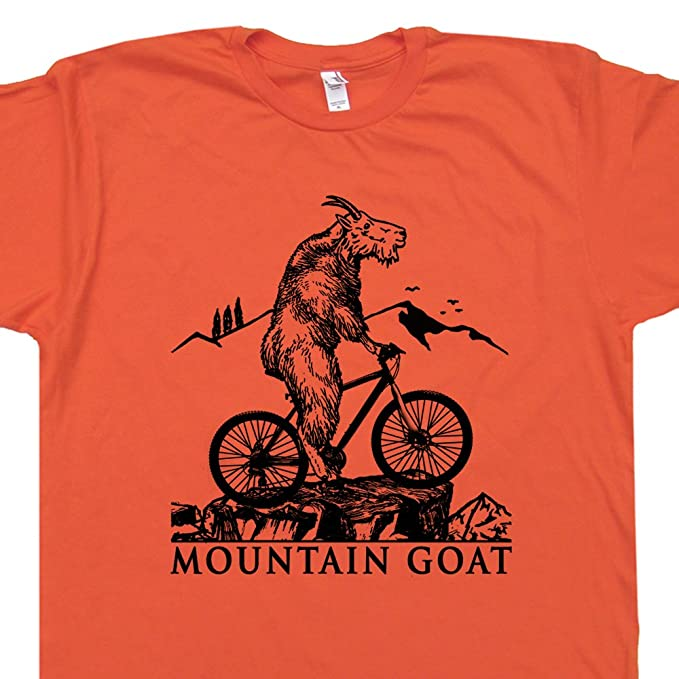 Amazon Com Mountain Bike T Shirt Goat Dirt Biking Graphic Tee