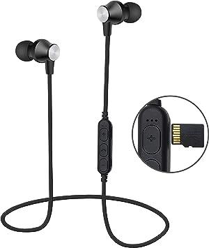 Areabi Auriculares Bluetooth Magnéticos Inalámbrico, Reproductor de mp3, Falcon, Deportivos Estéreo con Micrófono, Cancelación de Ruido, para iPhone, Samsung.: Amazon.es: Electrónica