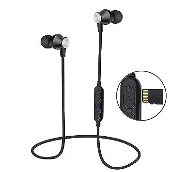 Auriculares Bluetooth Magnéticos Inalámbrico, Reproductor de mp3 ...